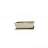 Tiesto Basic Class rectangular crema + plato
