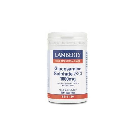 Sulfato de Glucosamina 2KCl 1000 mg Lamberts, 120 tabletas