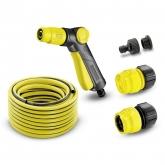 """Tubi e avvolgitori per tubi Set completo(1/2"""") di 20 metri con pistola di irrigazione"""