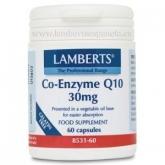 Co-Enzima Q10 30 mg Lamberts, 60 capsules