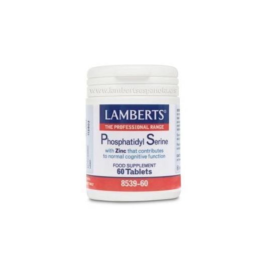 Fosfatidilserina 100 mg + Zinc Lamberts, 60 tabletas