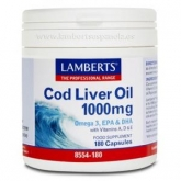 Huile de Foie de Morue 1000 mg, Lamberts 180 capsules