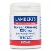 Ginseng coreano 1.200 mg Lamberts, 60 tabletas