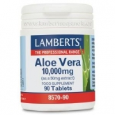 Aloe Vera 10.000 mg Lamberts, 90 tabletas