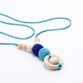 Collana azzurra di allattamento al seno ICO baby