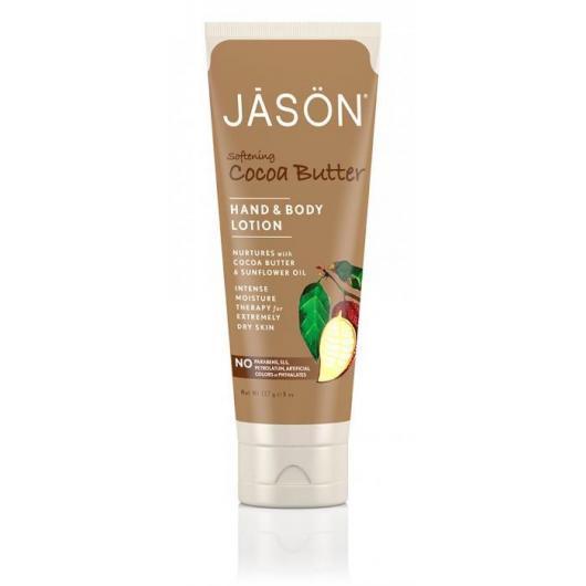 Loción cuerpo y manos Manteca de cacao Jason, 250 ml