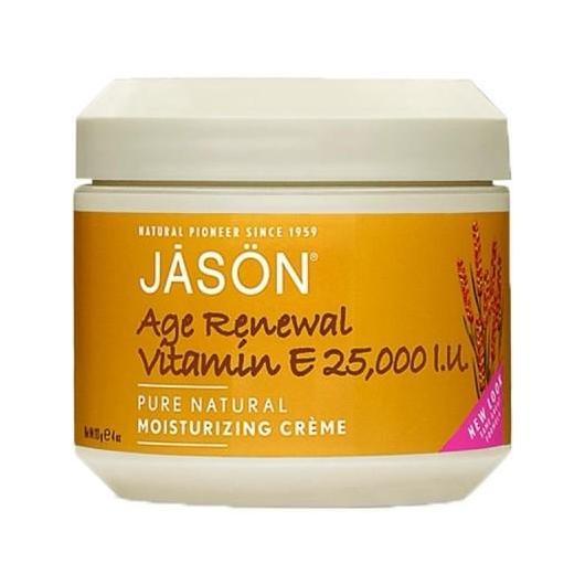 Crema renovadora antiedad cara y cuerpo Vitamina E 25000 UI Jason, 113 g