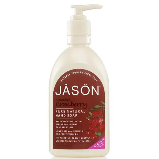 Gel pulizia mani e faccia mirtillo rosso, Jason 473 ml