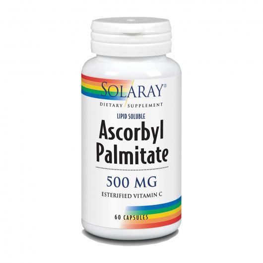 Ascorbyl Palmitate 500 mg Solaray, 60 cápsulas