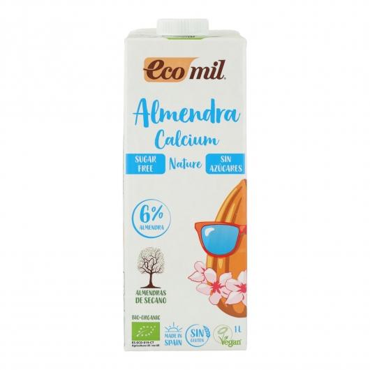Latte di mandorle senza zucchero, senza glutine e senza lattosio con Calcio EcoMil 1 L