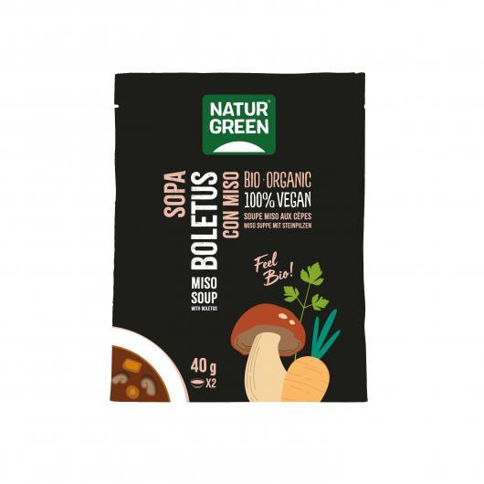 Zuppa Boletus con miso Naturgreen 40 g