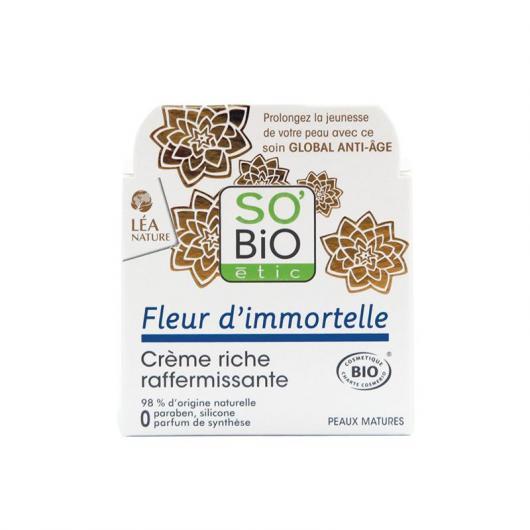 Crema Rica Reafirmante SO'BIO étic 50 ml.