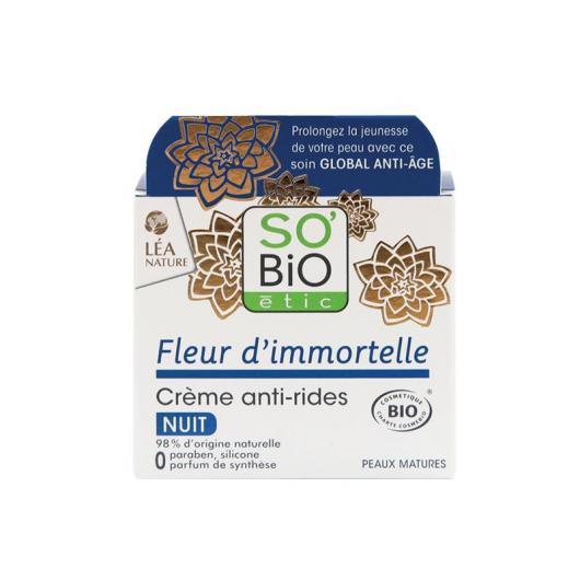 Crema de Noche Anti-arrugas SO' BIO étic 50 ml
