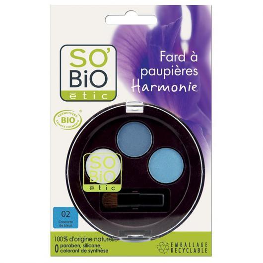 Sombra de Ojos Trio 02 Bleus SO'BIO étic 1,8 g.