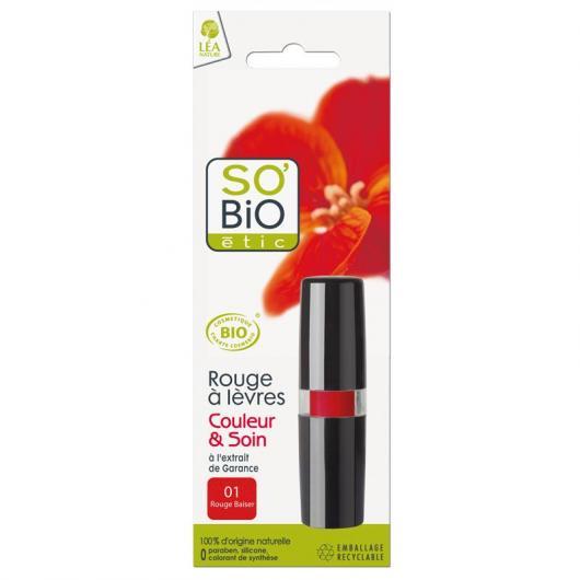 Barra de Labios 01 Rouge SO'BIO étic 4,5 g.