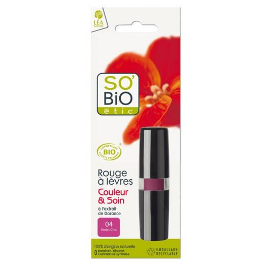 Barra de Labios 04 Violet SO'BIO étic 4,5 g.