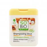 Shampoo addolcente Latte di Mandorle e Latte d'asino SO'BIO étic 250 ml