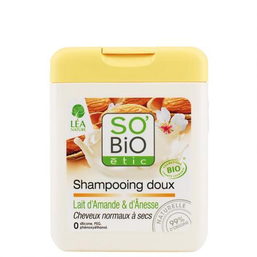 Champú suave Leche de Almendras y Burra SO'BIO étic 250 ml.