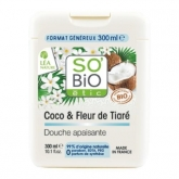 Gel de Ducha Coco y Tiaré SO'BIO étic 300 ml.