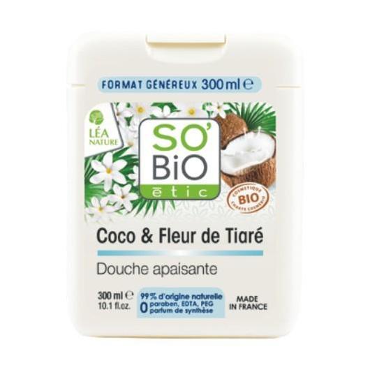 Gel de Ducha Coco y Tiaré SO'BIO étic 300 ml.