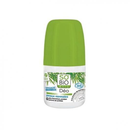 Desodorante Rollon Bamboo - Piel normal SO'BIO étic 50 ml.