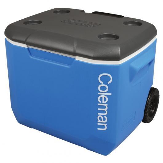 Nevera Rigida con ruedas 56L Negra y Azul Coleman