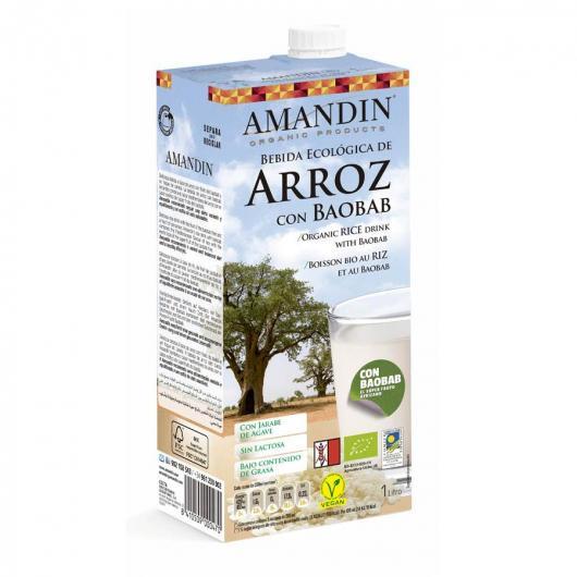 Bebida De Arroz Con Baobab Amandin 1L