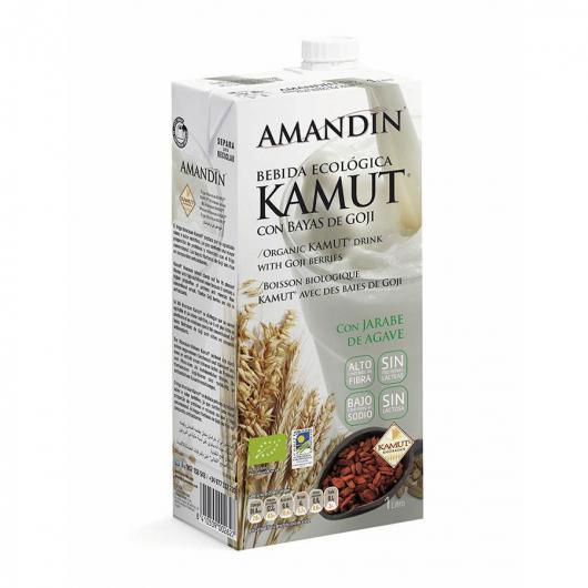 Bebida De Kamut con Bayas De Goji Amandin 1L