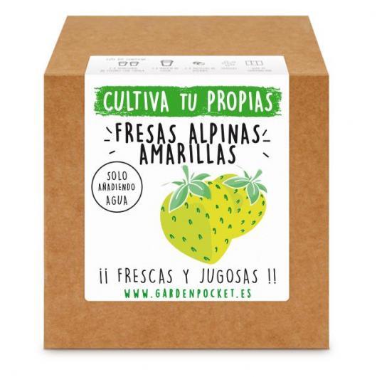 Kit siembra Fresas alpinas amarillas Garden Pocket