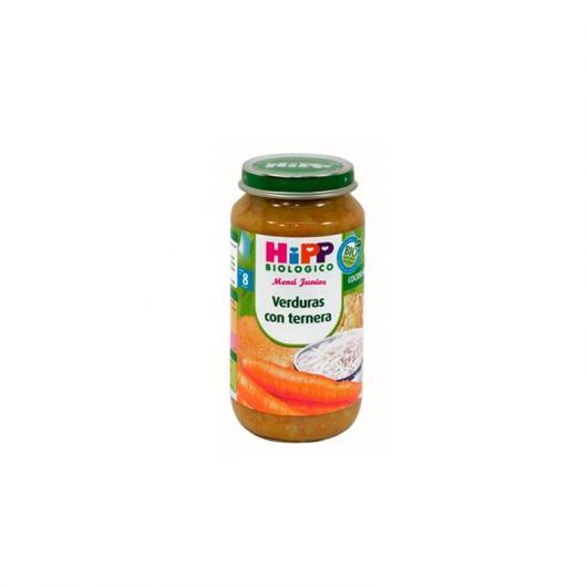 Potito Biológico Verduras con Ternera 8M HiPP, 250 g