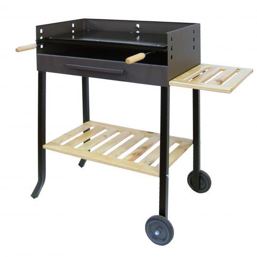 Barbecue ferro smaltato e vassoio di legno Imex el Zorro