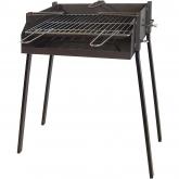 Barbecue Quadrato con supporto per Paella e Bistecchiera Zincata Imex el Zorro