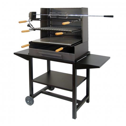 Barbecue completo con Vassoio Metallo e kit Pollo Imex el Zorro
