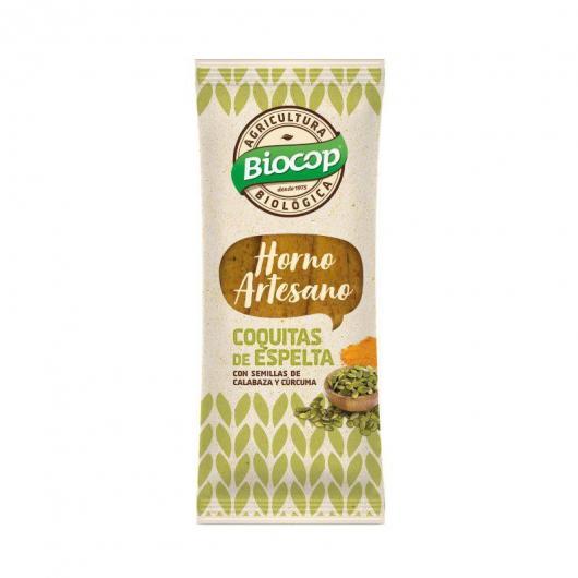 Snacks de Espelta con semillas de calabaza y cúrcuma Biocop 75 g