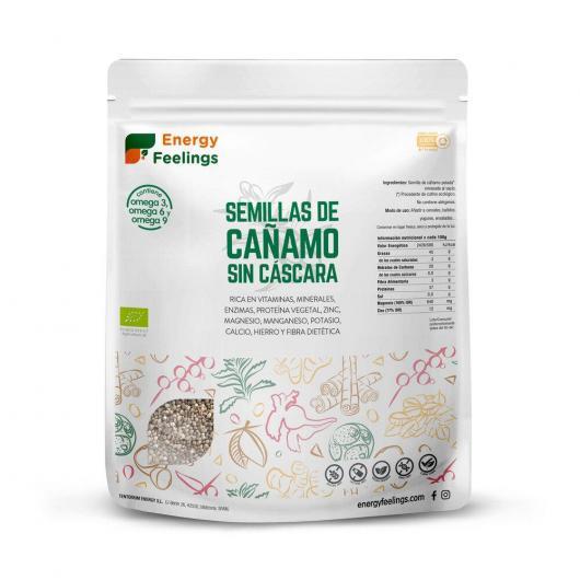 Cañamo semilla sin cascara BIO al vacío Energy Fruits