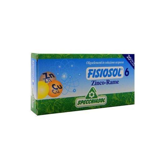 FISIOSOL 6 Zinco y Cobre Specchiasol,20 viales