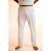 Pantalón largo de algodón orgánico, blanco