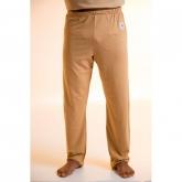Pantalone pigiama lungo di cotone organico, marrone