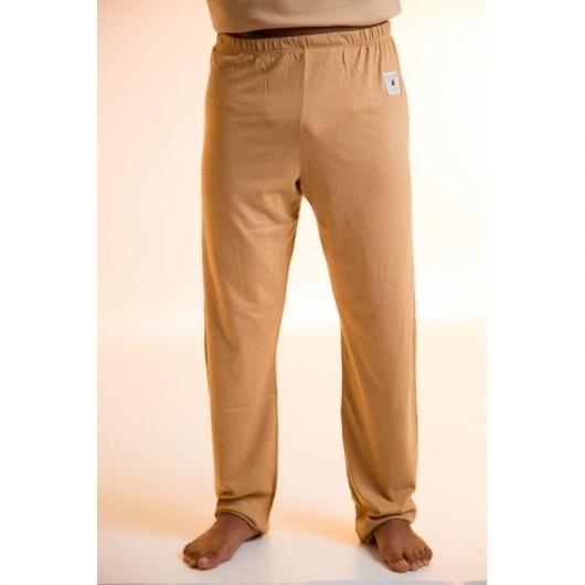 Pantalón largo de algodón orgánico, marrón