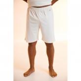 Pantalone pigiama corto di cotone organico, bianco