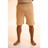 Pantalone pigiama corto di cotone organico, marrone