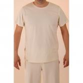 Camiseta manga corta de algodón orgánico masculina, blanco