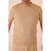 Maglietta manica corta cotone organico uomo, marrone