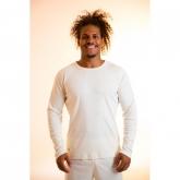 Maglietta maniche lunghe cotone organico uomo, bianco