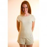 Camiseta manga corta de algodón orgánico femenina, verde
