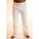 Pantalone yoga cotone organico unisex, bianco
