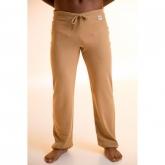 Pantalone yoga cotone organico unisex, marrone