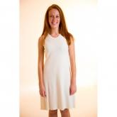 Vestito senza maniche donna cotone organico, bianco