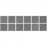 Stampi per Texture- Pack II (12 disegni) Fiskars