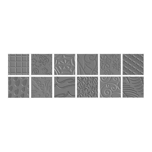 Placas de textura - Pack II (12 diseños) Fiskars